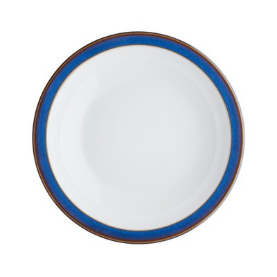 Imperial Blue Shallow Rimmed Bowl