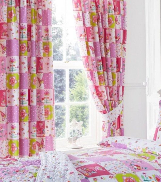 "Kids Club Patchwork Readymade Curtains 66"" x 72"""