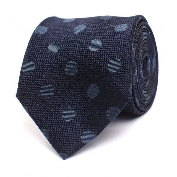 Silk Tie With Coloured Dot