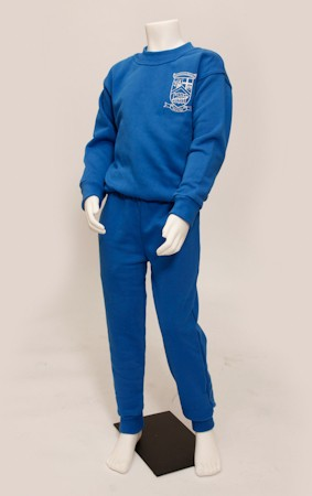 Full Stop Crested Tracksuit - Non-Cuffed