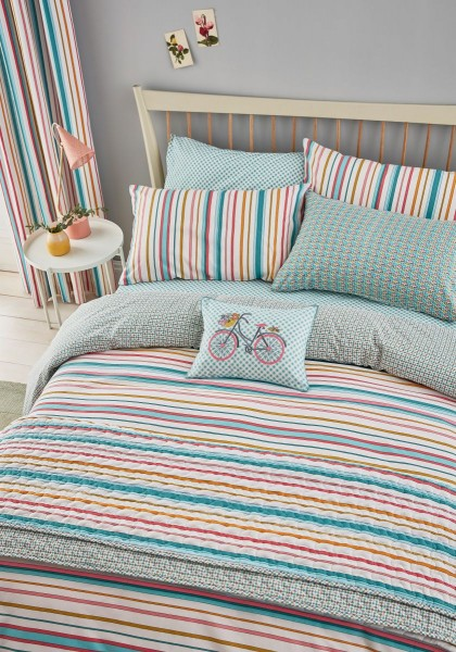 Helena Springfield Trixie Duvet Cover Set Duck Egg - Single