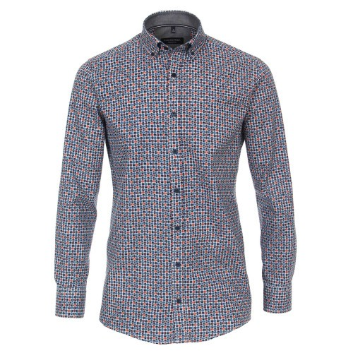 Print Button Down Comfort Shirt