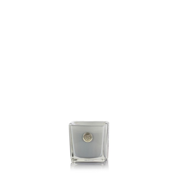 Square Glass Candle - Cotton Flower & Amber