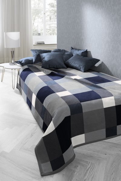 Cotton Home Stage Blue Throw - 150x200cm