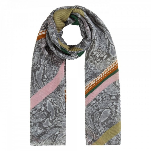 Snake Pleated Scarf