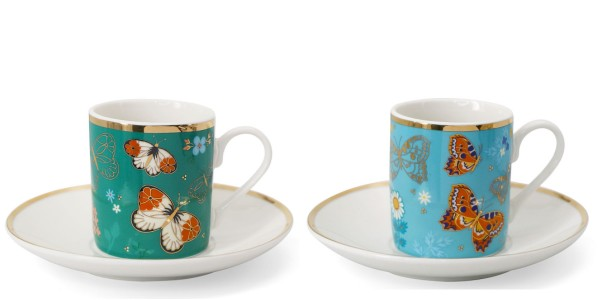 Butterfly Set Of 2 Espresso Cups