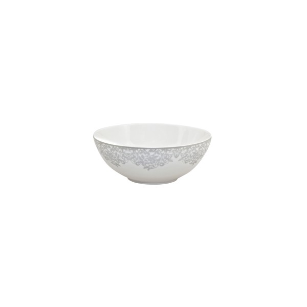 Denby Monsoon Filigree Silver Soup/Cereal Bowl