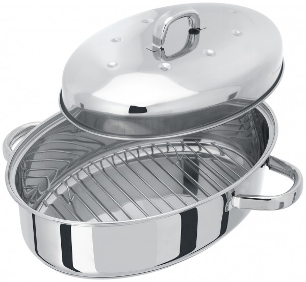 32CM Oval Roaster With Self Basting Lid