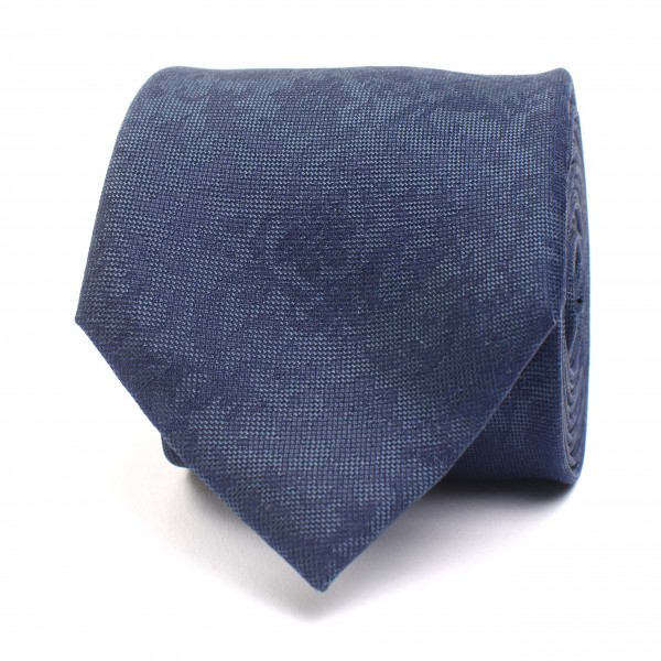 Silk Tie With Flower Detail