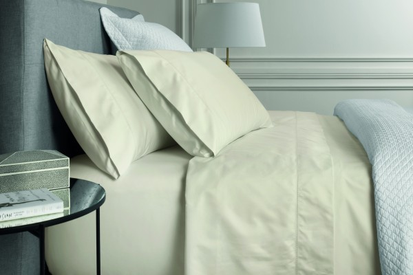 1000TC Cotton Sateen Fitted Sheet - Chalk