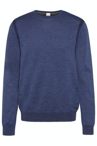 Shoulder Detail Wool Crew Neck
