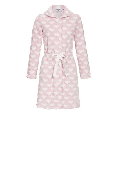 Fluffy Buttoned Through Robe