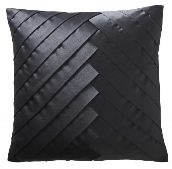 Karen Millen Hand Pleated Square Cushion - Black