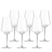 Puccini Set Of 6 Red Wine Glasses