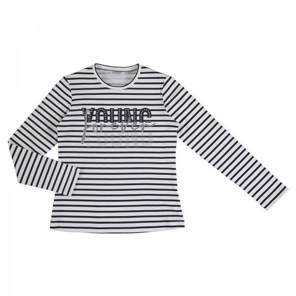 Long Sleeve Stripes T-shirt