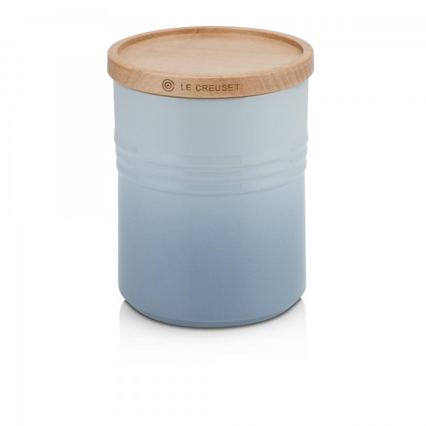 Medium Storage Jar With Wooden Lid