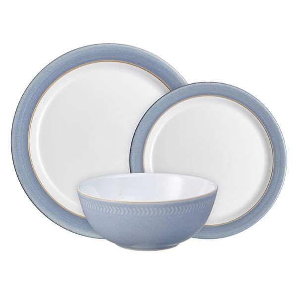 Natural Denim 12 Piece Tableware Set