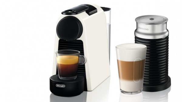 Nespresso Essenza Mini White Coffee Machine & Aeroccino3