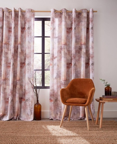 Monet Amber Readymade Curtains