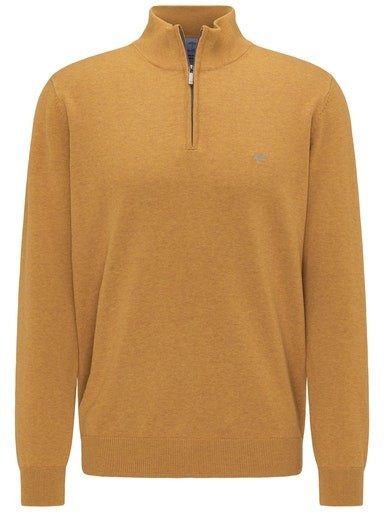 Plain Cotton Troyer Zip Knit