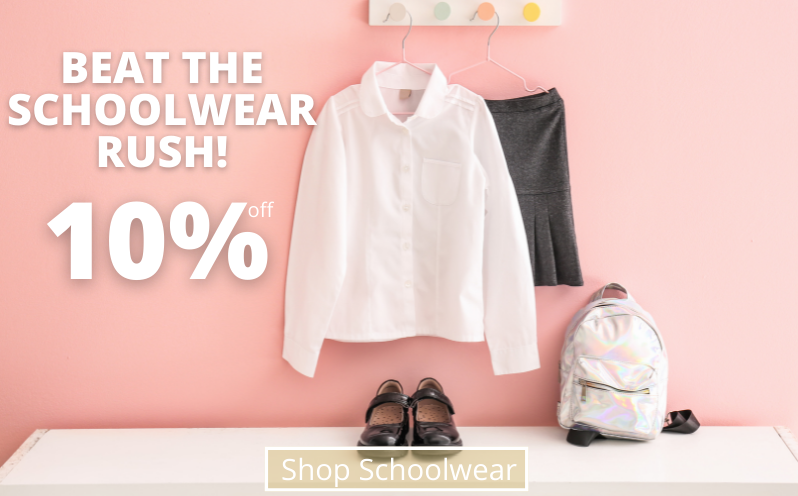 Beat The Rush! 10% Off Shop Schoolwear