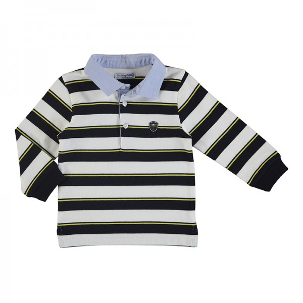 Long Sleeve Stripes Polo