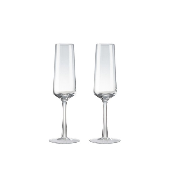 Natural Canvas Set Of 2 Champagne Flutes