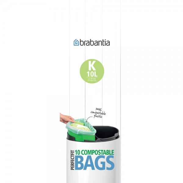 10 Compostable Bin Liners Size C