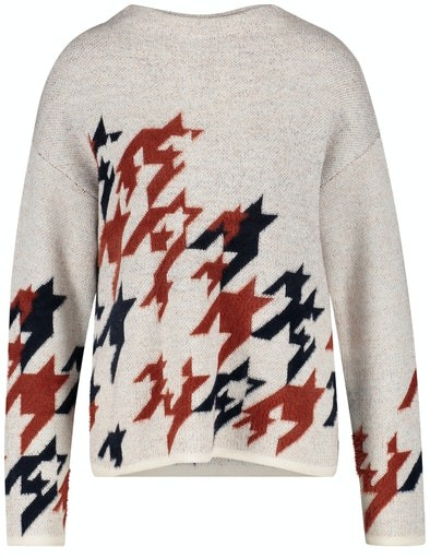 Casual Nomade Print Crew Knit