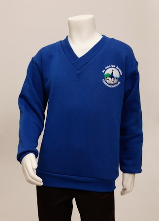 Full Stop Crested V-Neck Track Top - Cotton Mix