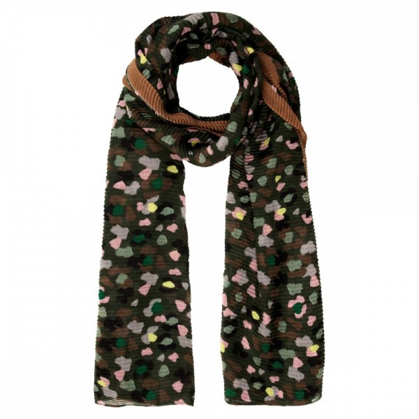 Leopard Print Scarf - 100% Recycled Polyester