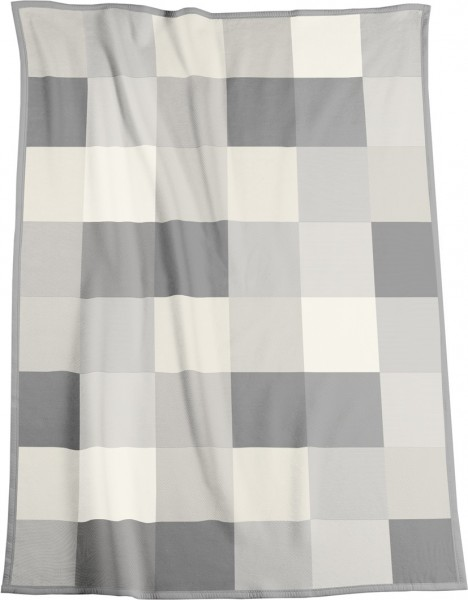 Cotton Home Large Check Throw - 150x200cm