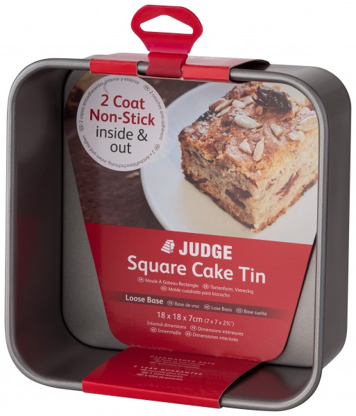 Loose Base 7 Square Cake Tin