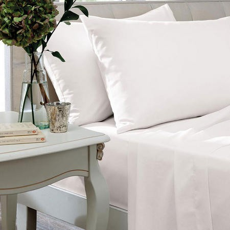 400 TC Egyptian Cotton Fitted Sheet - White