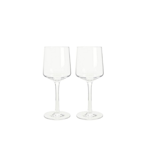 Natural Canvas Set Of 2 White Glass