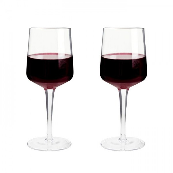 Natural Canvas Set of Red Wine Glasses