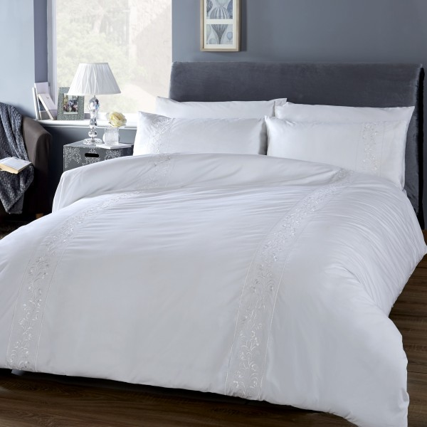 White Collection Florence Duvet Cover Se