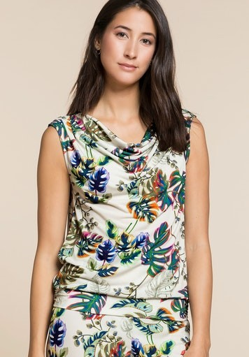 Print Sleeveless T-shirt