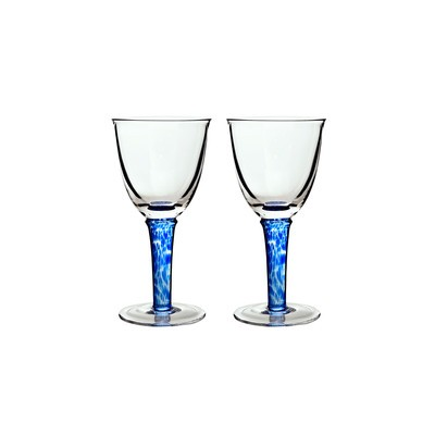 Red Wine Glass Set of 2 - Imperial Blue