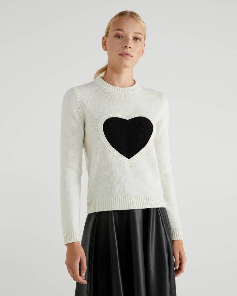 Iconic Woman Heart Crew Knit