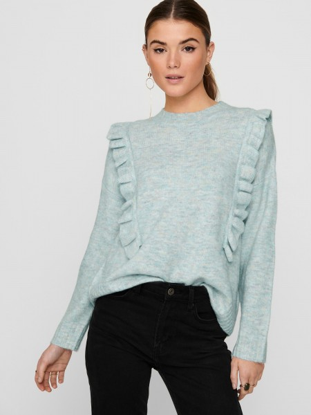 Jdy Shiny Side Frill Jumper