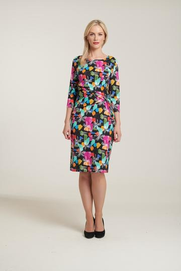 Abstract Ruched Dress