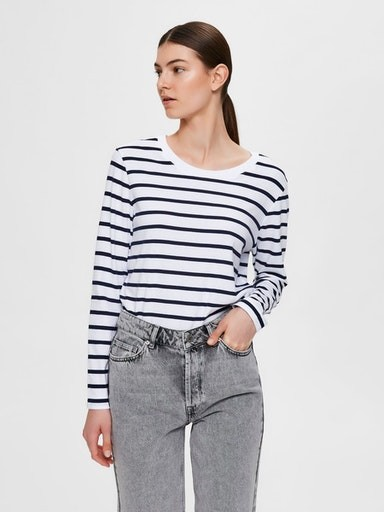 Standard Long Sleeve Stripe T-shirt