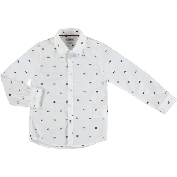 Long Sleeve Print Shirt