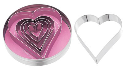 Judge Set of 6 Heart Shaped Cutters