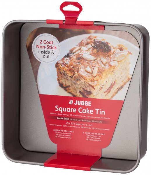 Loose Base 10 Square Cake Tin