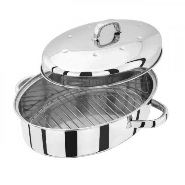 36cm Stainless Steel High Oval Roaster