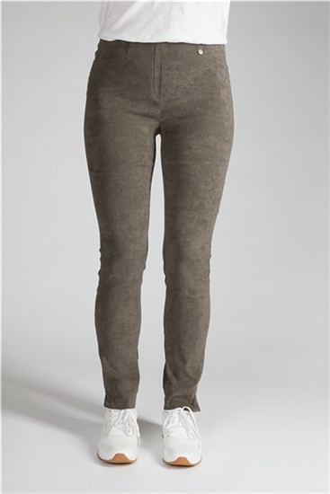 Rose Suede-leather Look Trousers