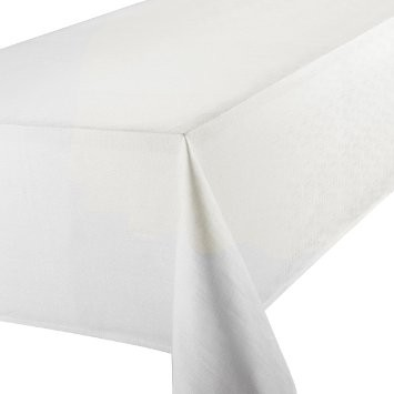Round 'Linen Look' Tablecloth White 69cm