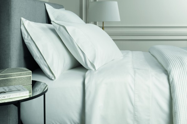 1000TC Cotton Sateen Fitted Sheet - Snow